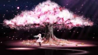 Japanese Blossom Tree cherry blossom tree anime wallpaper