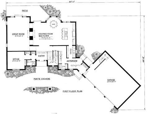 angled garage house plans attached angled garage house plans google search