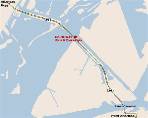 map port aransas texas directions