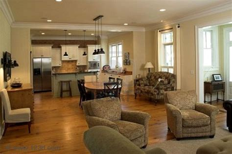 Open Plan Kitchen Family Room Ideas by Open Kitchen Floor Plans For The New Kitchen Style Home
