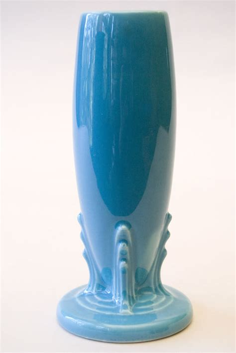 Bud Vases For Sale by Vintage Fiestaware Bud Vase In Original Turquoise Glaze For Sale