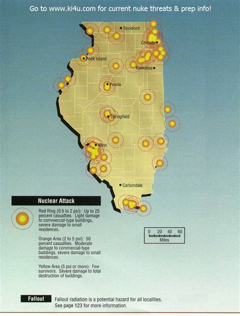shelters in illinois nuclear war fallout shelter survival info for illinois with fema target maps