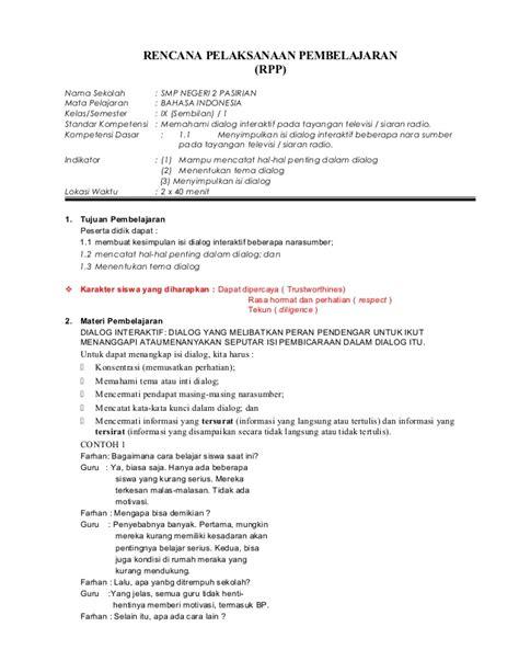 Matematika Kls 1 Smk Revisi contoh rpp matematika kelas 9 smp berkarakter semester 1 caroldoey
