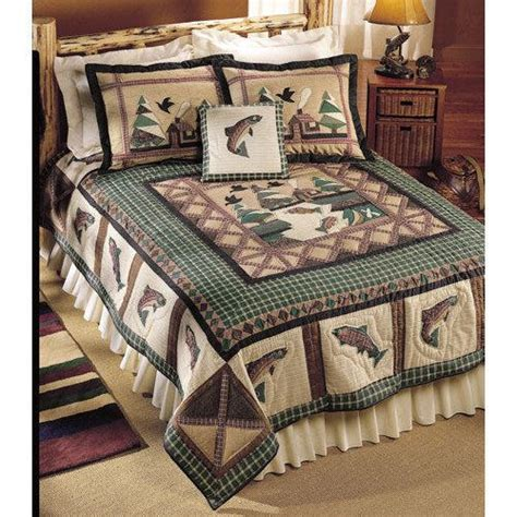 fishing quilts shams king 25001 1 130oo sale