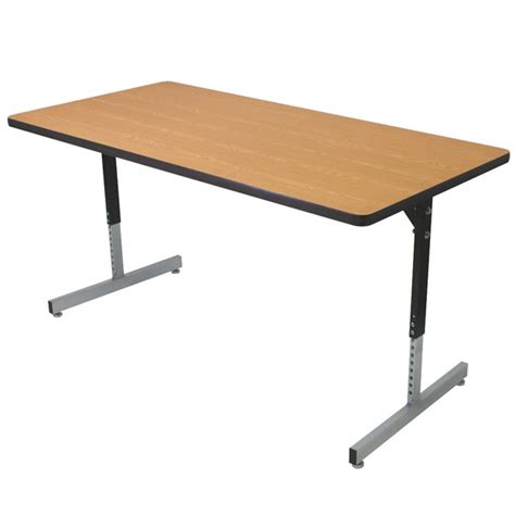 72 x 36 desk t53672 36 quot x 72 quot adjustable t leg computer classroom