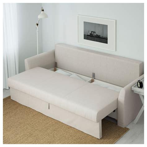 beige sofa bed holmsund three seat sofa bed nordvalla beige ikea