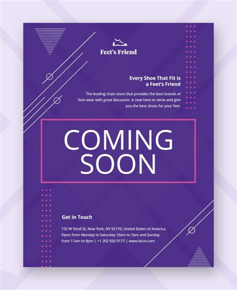 Coming Soon Flyer Template Free