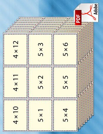 printable flash cards times tables tim van de vall comics printables for kids