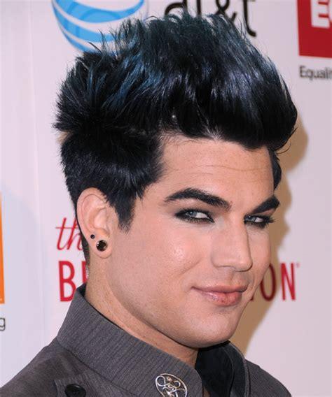 popular male hairstyles adam lambert short straight adam lambert short straight casual emo hairstyle black ash