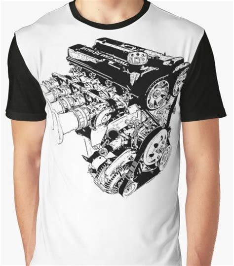 Tees Itb 4age racing engine motor graphic t shirt cool t shirts
