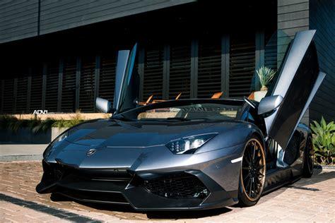 Gray Lamborghini Gray Lamborghini Aventador Adv15 Track Spec Cs Adv 1 Wheels