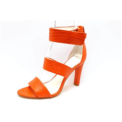 orange dress sandals calvin klein womens size 8 5 orange dress sandals