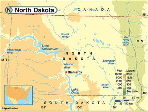 physical map of dakota dakota physical map by maps from maps
