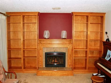 Bookcase Fireplace by How To Repair How To Build Built In Bookcases Cherry