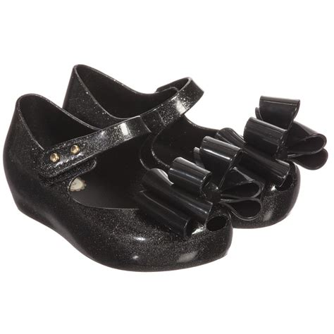 Mini Ultragirl Bow Black Size 6 7 8 mini black ultragirl bow shoes childrensalon
