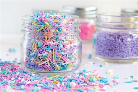 Sprinkle Jars Sprinkles Diy Jimmies Using Royal Icing