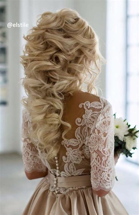 Curly Wedding Hairstyles by 60 Wedding Hairstyles With Glam Curly