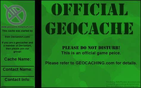 printable geocache labels geocache label on deviantart geocaching freebies to