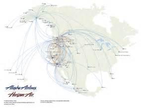 alaska airlines route map eston canada mappery
