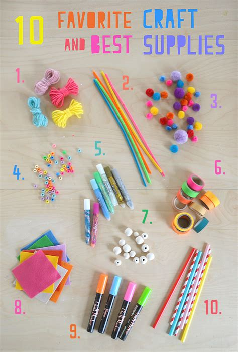 themes list for art my 10 favorite craft supplies for kids artbar