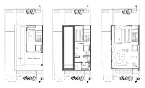 small townhouse floor plans gallery of tel aviv townhouse pitsou kedem architects 18