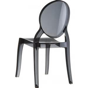 chaise elizabeth transparente m 233 daillon en polycarbonate