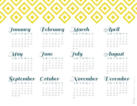 printable calendar 2014 year at a glance 2014 year at a glance calendars red st