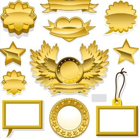 Free Golden Blank Badge Label Design Templates 02 Titanui Badge Design Template
