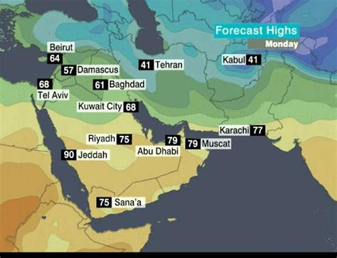 middle east map yahoo weather cnn weather