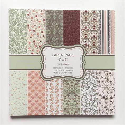 new style 6 inch handmade card paper pads colorful floral
