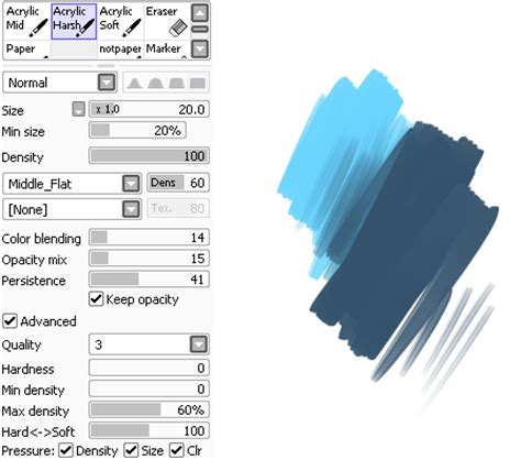 paint tool sai acrylic brush paint tool sai brushes ivchan brush presets two