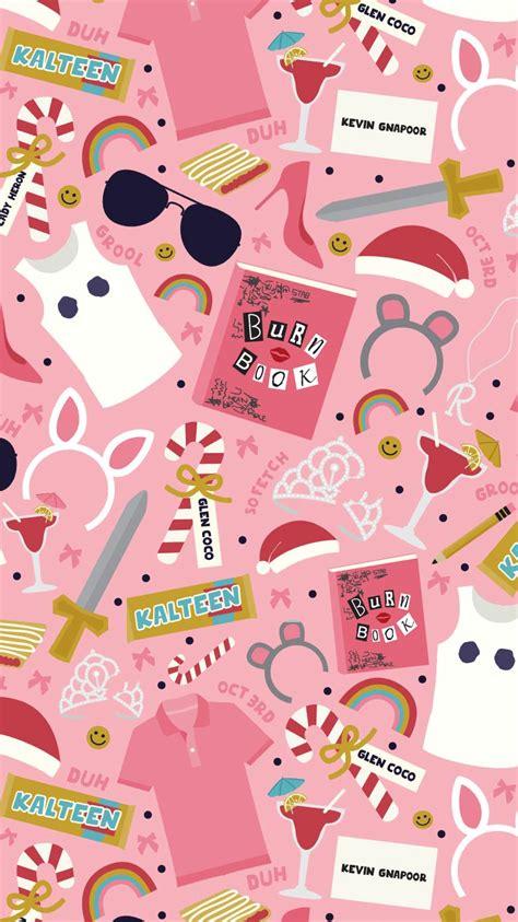 wallpaper for girls phone mean girls inspired pattern free iphone wallpaper