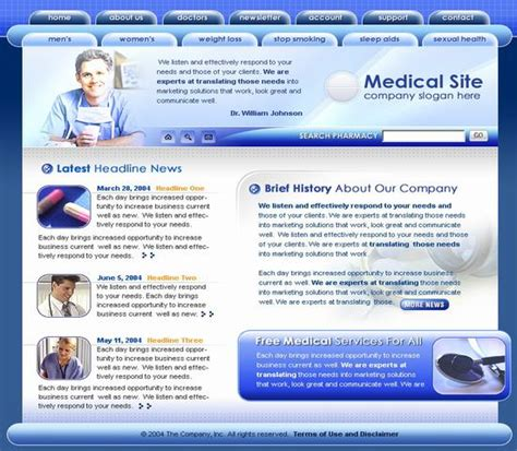 templates for website hospital medical hospital website template over millions vectors