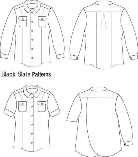 shirt pattern drawing novelista shirt women s button down shirt sewing pattern