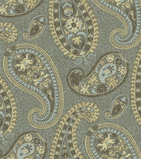 home decorator fabrics online home decor print fabric waverly caftan paisley moonstone