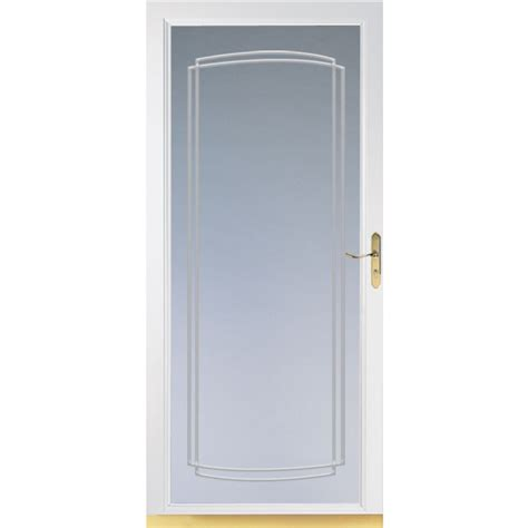 comfort bilt storm doors shop comfort bilt signature white full view tempered glass