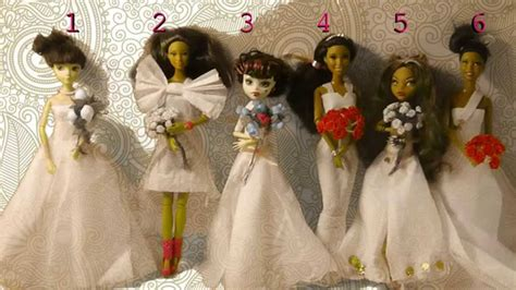 How To Make A Doll Dress Out Of Paper - doll soap opera toilet paper wedding dresses for
