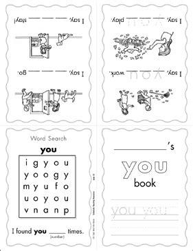 "The Sight Word ""you"" (Level 1) | Printable Mini-Books"