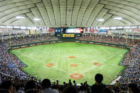 100 japanese dome house japanese baseball at the yomiuri tokyo giants schedule tickets tokyo dome