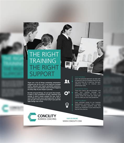 design inspiration one page concility business coaching one page flyer design on behance