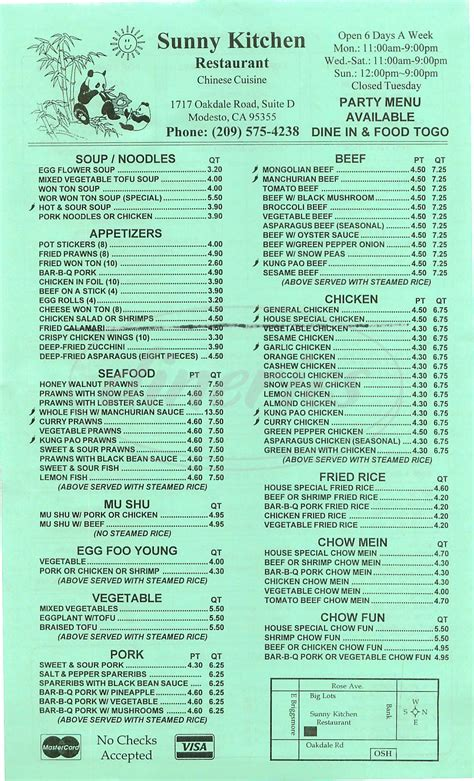 Kitchen Menu by Kitchen Menu Modesto Dineries