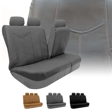 leather bench seat covers rome pu leather car seat covers full set air bag safe