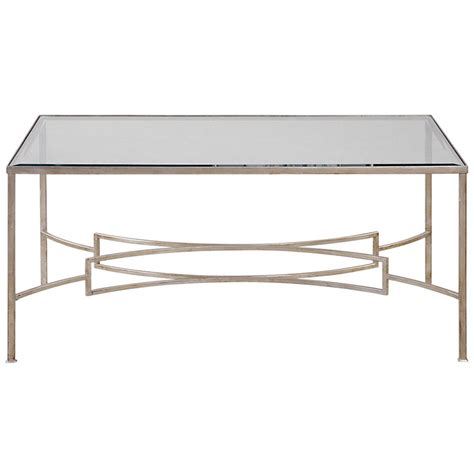 endora regency silver leaf glass coffee table