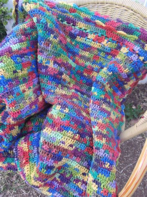 multi colored afghan knitting pattern large multi colored afghan blanket throw crochet special
