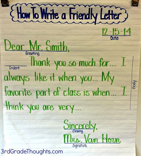 thank you letter to 3rd grade friendly letter writing with rack friendly letter