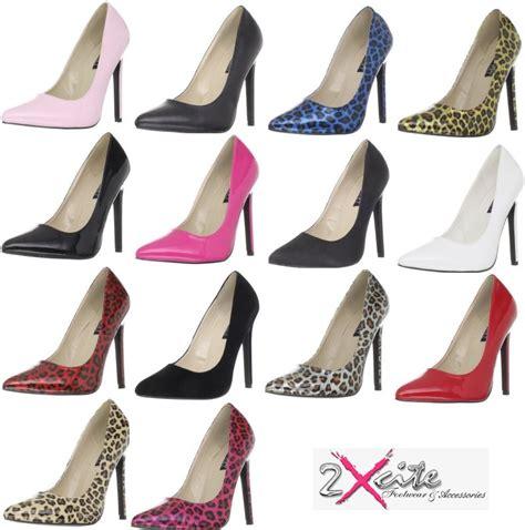pleaser 20 pointy toe 5 1 4 quot stiletto high heel court