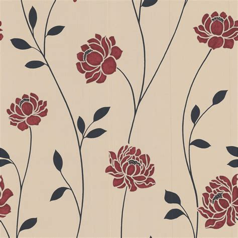the images collection of wall cream and black home decor colours sienna black cream red floral wallpaper