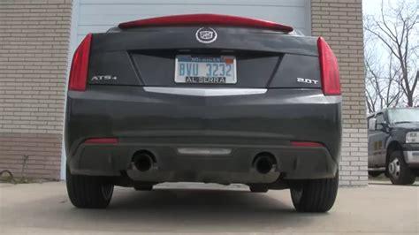 cadillac ats 3 6 exhaust 2014 cadillac ats 2 0l turbo stock exhaust