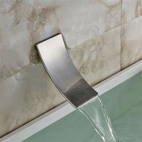 waterfall wall mount bathroom faucet spout brushed nickel replacement tub spout  ebay