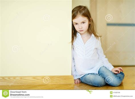 One Floor Home Plans by Sad Little Sitting On A Floor Stock Photo Image